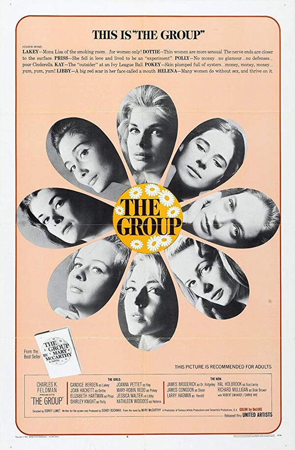 A poster for the 1966 adaptation of <em>The Group</em>, directed by Sidney Lumet.