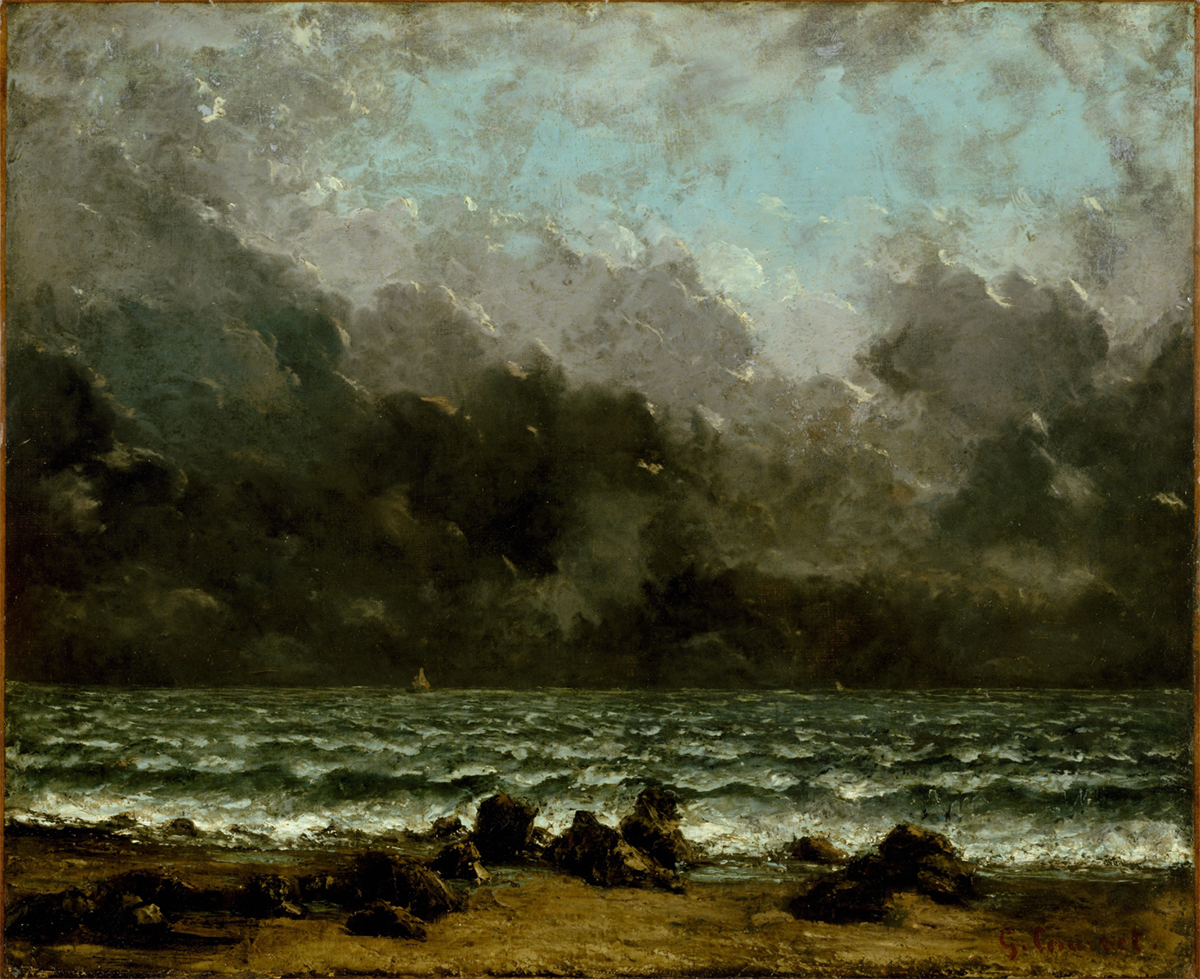 Gustave Courbet, <em>The Sea</em>, ca. 1865. Oil on canvas, 20 x 24 inches. Courtesy of the Metropolitan Museum of Art.