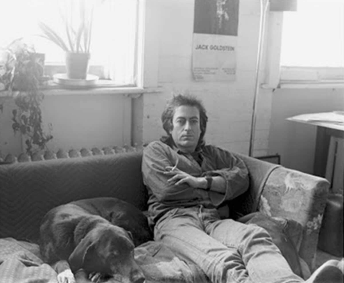 Jack Goldstein and his dog, 1986. Image courtesy Peter Bellamy.