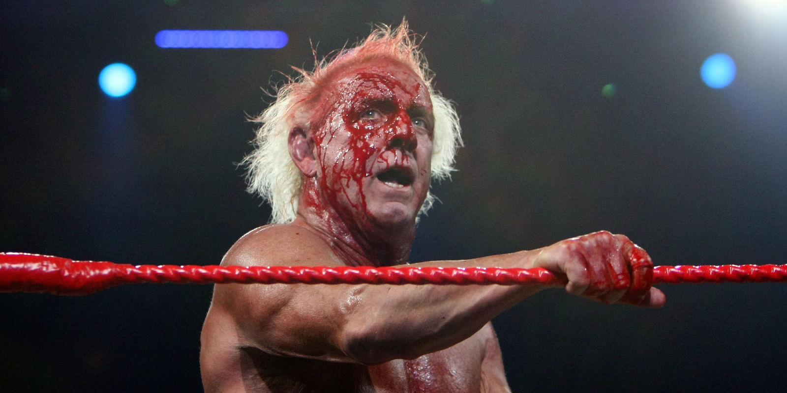 Ric Flair juicing. Courtesy World Wrestling Entertainment.