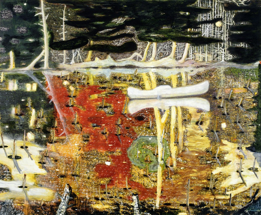 Peter Doig's 1990 oil <em>Swamped</em> fetched $25.9 million at Christie's in May 2015.