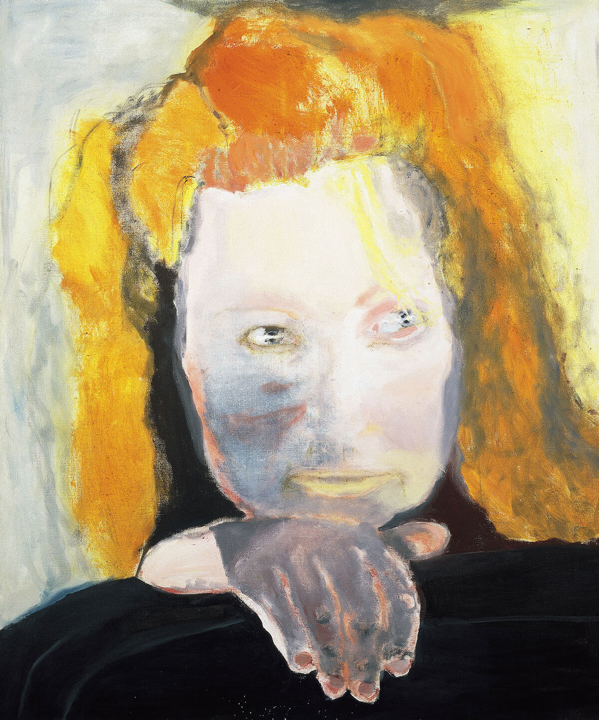 Marlene Dumas, <em>Evil is Banal</em>, 1984. Oil on Canvas. © Marlene Dumas, Photo: Peter Cox