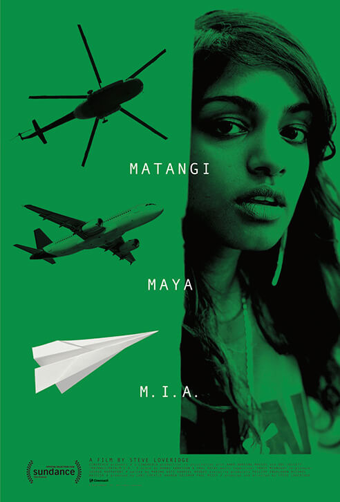 The poster for <em>Matangi / Maya / M.I.A</em> (dir. Steve Loveridge), which will be released on September 28, 2018.