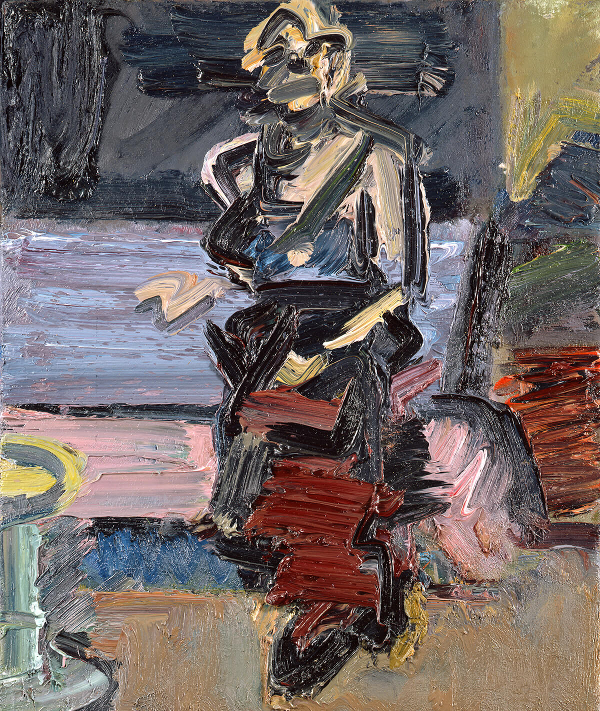 Frank Auerbach, <em>J.Y.M. Seated in the Studio</em>, 1987-8. Oil on canvas, 21½ x 18 in. (54.6 x 45.7 cm). Private collection. © Frank Auerbach, courtesy Marlborough Fine Art.