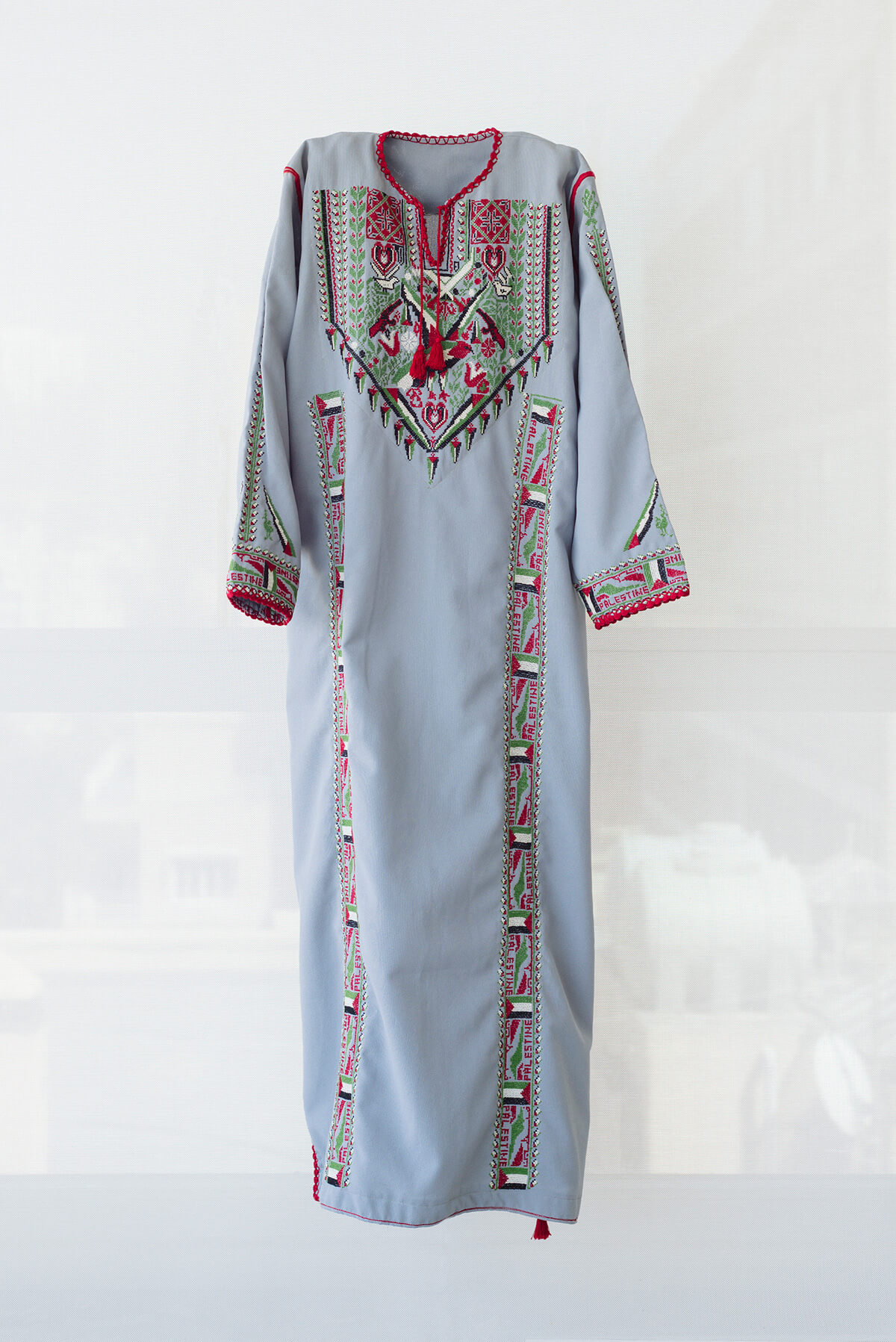 Intifada dress, 1987-1993, from the collection of Tiraz: Widad Kawar Home for Arab Dress, photos Tanya Traboulsi for the Palestinian Museum.