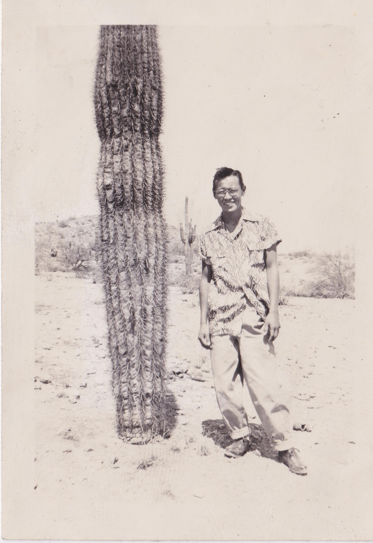 The author's grandfather as a young man in Gila Bend, Arizona.