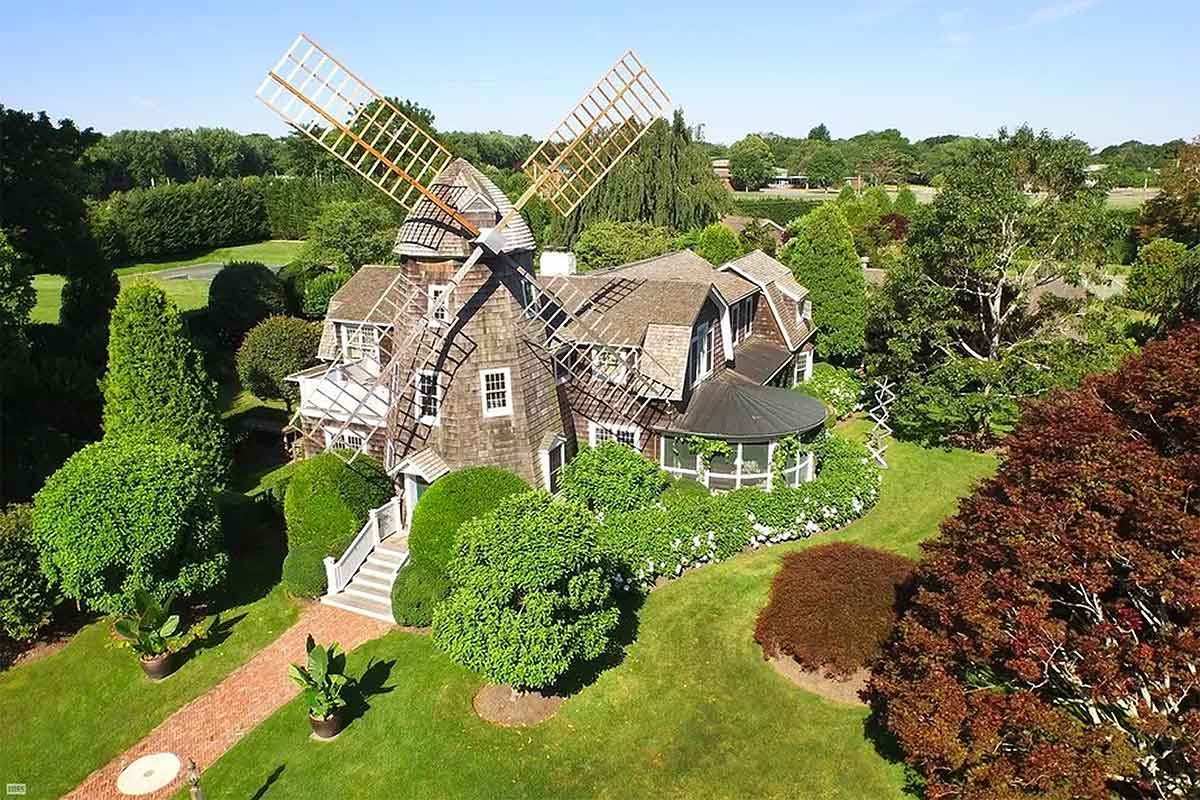 Robert Downey Jr.'s windmill cottage in East Hampton, New York. Courtesy Brown Harris Stevens.