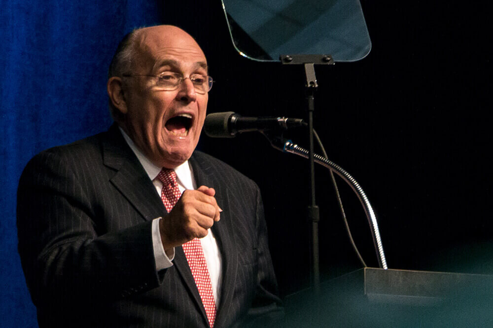 Former New York City Mayor Rudy Giuliani. Photo by John Pemble.